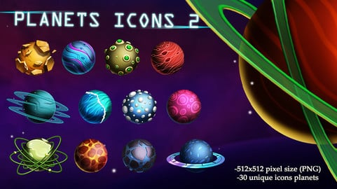 Planets Icons 2