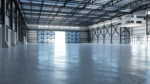 Industrial Hangar Hall Interior 3