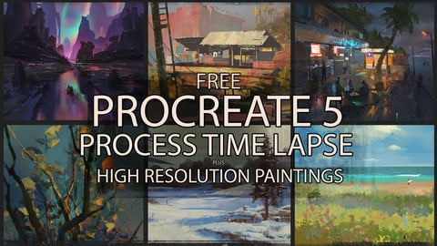 Procreate 5 - Painting process - complete time lapses