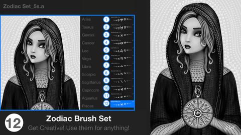 Zodiac Procreate Brush Set