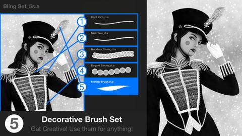 Bling Decor Patterns Procreate Brush Set