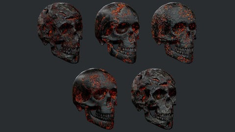 5 Skulls Burning Lava Pack Game Ready