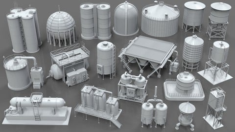 Industrial Tanks - part - 1 - 20 pieces