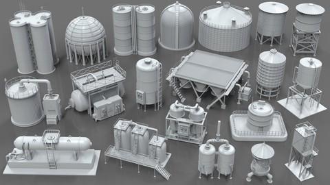 Industrial Tanks - part - 1 - 20 pieces