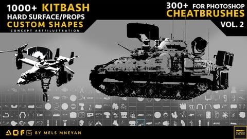 800+ Hard Surface  Custom shapes (300+ CHEATBRUSHES)