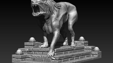 Predator Dog  Model Printing Miniature Assembly File STL-OBJ for 3D Printing FDM-FFF DLP-SLA-SLS inspired by the film, THE PREDATOR, from 2018