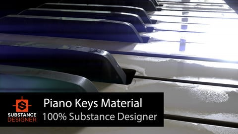 Piano Keys Material - %100 Substance Designer
