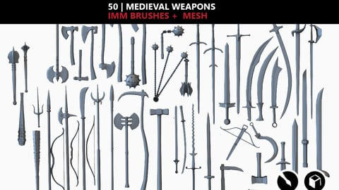 medieval weapon_vol 1 IMM Brushes + Mesh