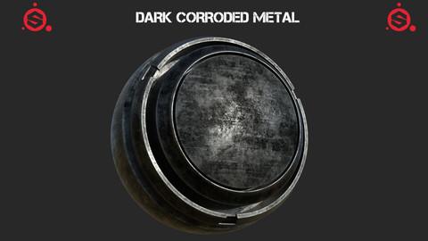 Dark corroded steel smart material