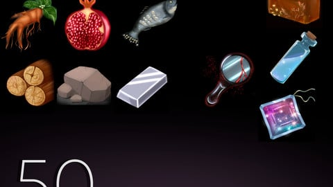 50 resources games icons (for UE)
