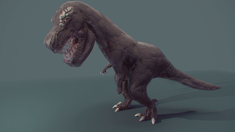 Lowpoly Dinosaur (with skeleton/joints for rig)