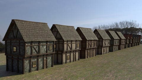 Medieval Houses Asset Pack