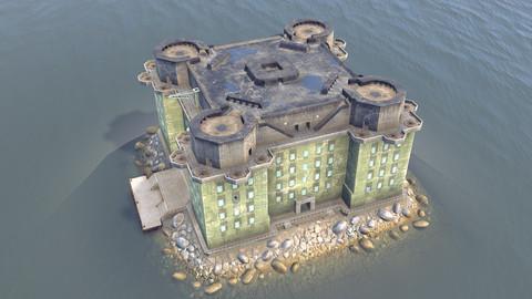 WW2 FlakTurm IV Island