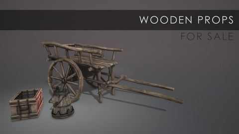 Wooden Props (game ready)