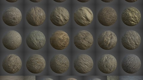 27 Various Seamless Mud Ground PBR Volume 2