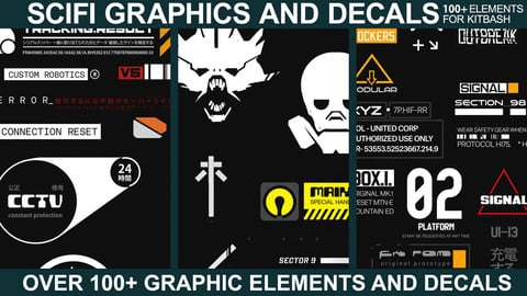 Sci-fi Graphics and Decals - Vol.2