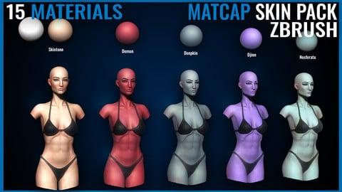 Skin Matcap Pack - Zbrush Matcaps