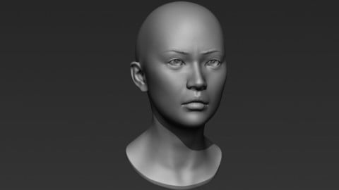 3d Printable Female Head 6
