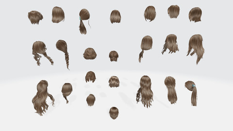 Female hair Collection Pack 2