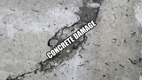 Concrete Damage Decals