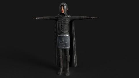Stylized Thief or Ninja warrior Female Character