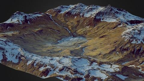 Frozen Mountains - World Machine 3D model