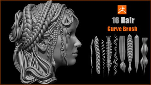 ZBrush Hair Curve Brush