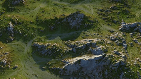 Grass Map Mountains - World Machine