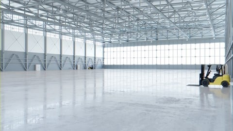 Airplane Hangar Interior 4