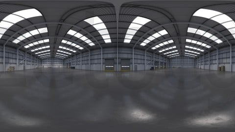 HDRI - Industrial Warehouse Interior 11