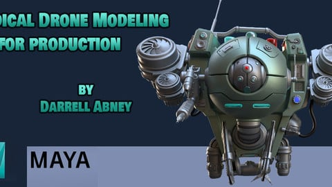 Medical Drone 3d modeling and rendering Tutorial Workshop - with Autodesk Maya & Arnold