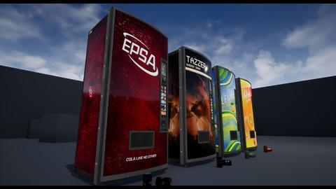 Soda Can + Vending Machine Pack