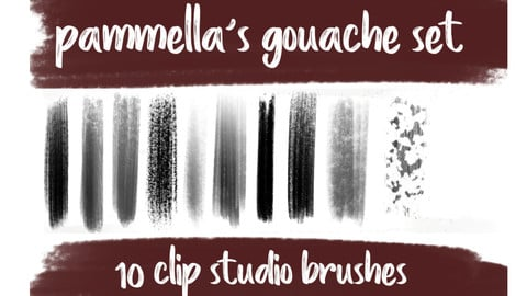 Gouache brushes for Clip Studio