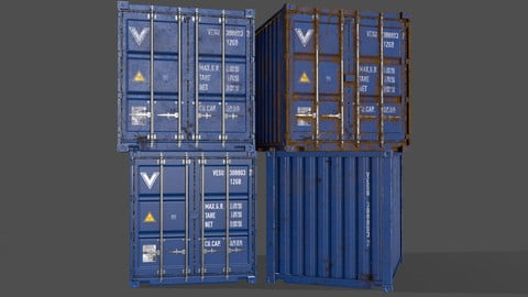 PBR 10 ft Storage Container - Blue