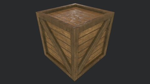PBR Wooden Crate B