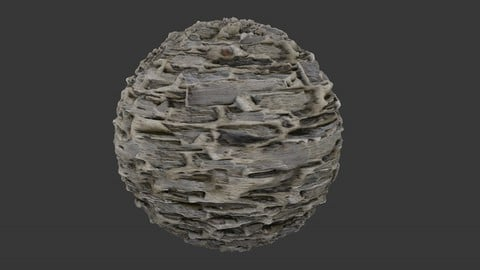 SEAMLESS RUBBLE ROCK WALL TEXTURE 2