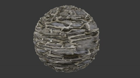 SEAMLESS RUBBLE ROCK WALL TEXTURE 3