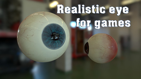 Realistic eye for game characters