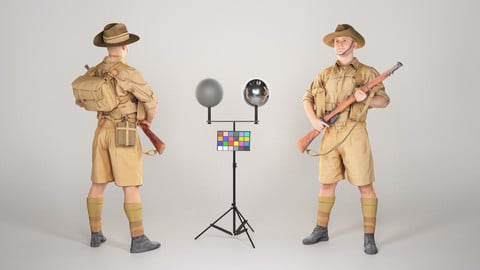 FREE DOWNLOAD: Australian infantryman character from World War 2 39