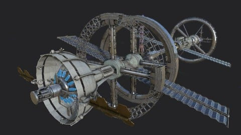 Space Station PBR-Gameready