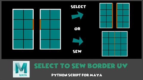 [Maya] Select To Sew Border UV