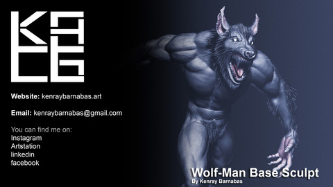 Wolf-Man Base Sculpt