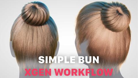 SIMPLE BUN HAIR XGEN GROOM FULL PROCESS EASY WORKFLOW