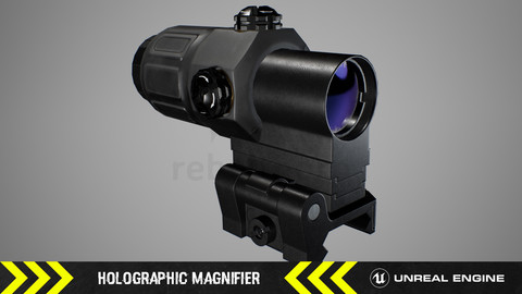 Holographic Magnifier - FPS Weapon Attachment [ Unreal Engine ]