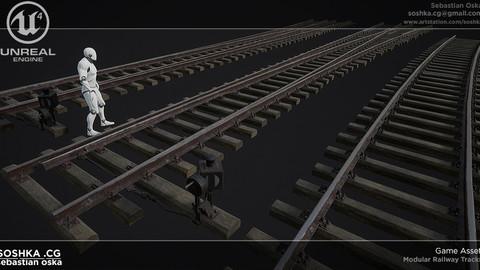 UE4 Modular Railway Tracks