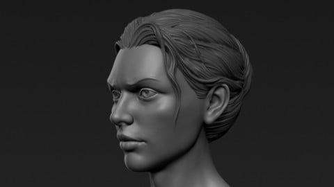 ZBrush Hair 1, Short Female Hairstyle