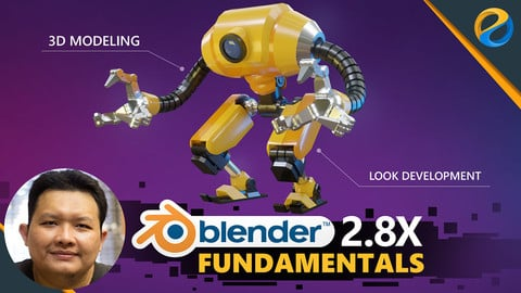 Blender 2.8x fundamentals: Basic 3D modeling and Look development