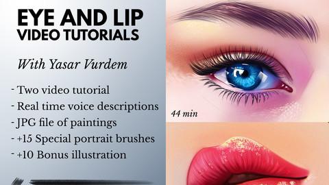 Eye and Lip painting - Tutorial Bundle