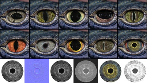 Creature Eye Textures - Vol 03