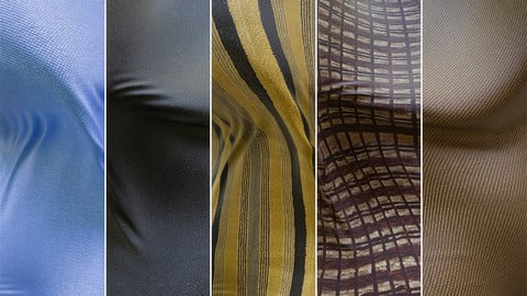 12 Photoscanned Fabric Materials